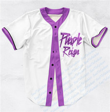 Real AMERICAN USA Size Custom made  Legendary Prince Fashion 3D Sublimation Print Baseball Jersey Plus Size