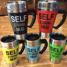 Hot Self Stirring 350 ML Automatic Electric Coffee Cup Smart Stainless Steel Mugs Perfect Souveni Mixing Coffee Tea Cup