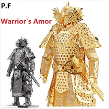 COOL 3D Metallic Han Dynasty Warrior's Armor build model Kits 3D Scale Models DIY Metallic Nano Puzzle Toys for adult/kids