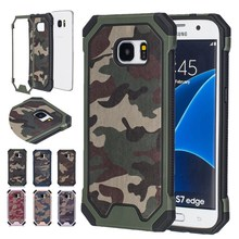 Hybrid Dual Layer Army Armor Camouflage ShockProof Defender Cover Case For Samsung Galaxy S4 I9500 Phone Case(China)