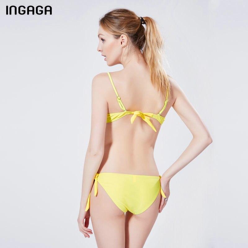 INGAGA Sexy 17 Bikini Set Push Up Swimwear Women Strap Bandage Swimsuit Bathing Suits Summer Beach Bathing Suits XXXL 6