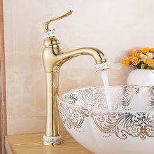 Brass Basin Faucet Jade PVD Vacuum Coating Mixer Cold and Hot Kitchen Faucet Zirconium Gold Bathroom Faucets Water Tap Torneira(China)