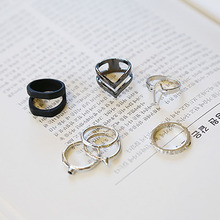 70 piece/lot Midi Knuckle Hollow Cross Rings Set Heart V Shape Charm Women Girls  Antique Silver Love Mid Finger Ring Jewelry