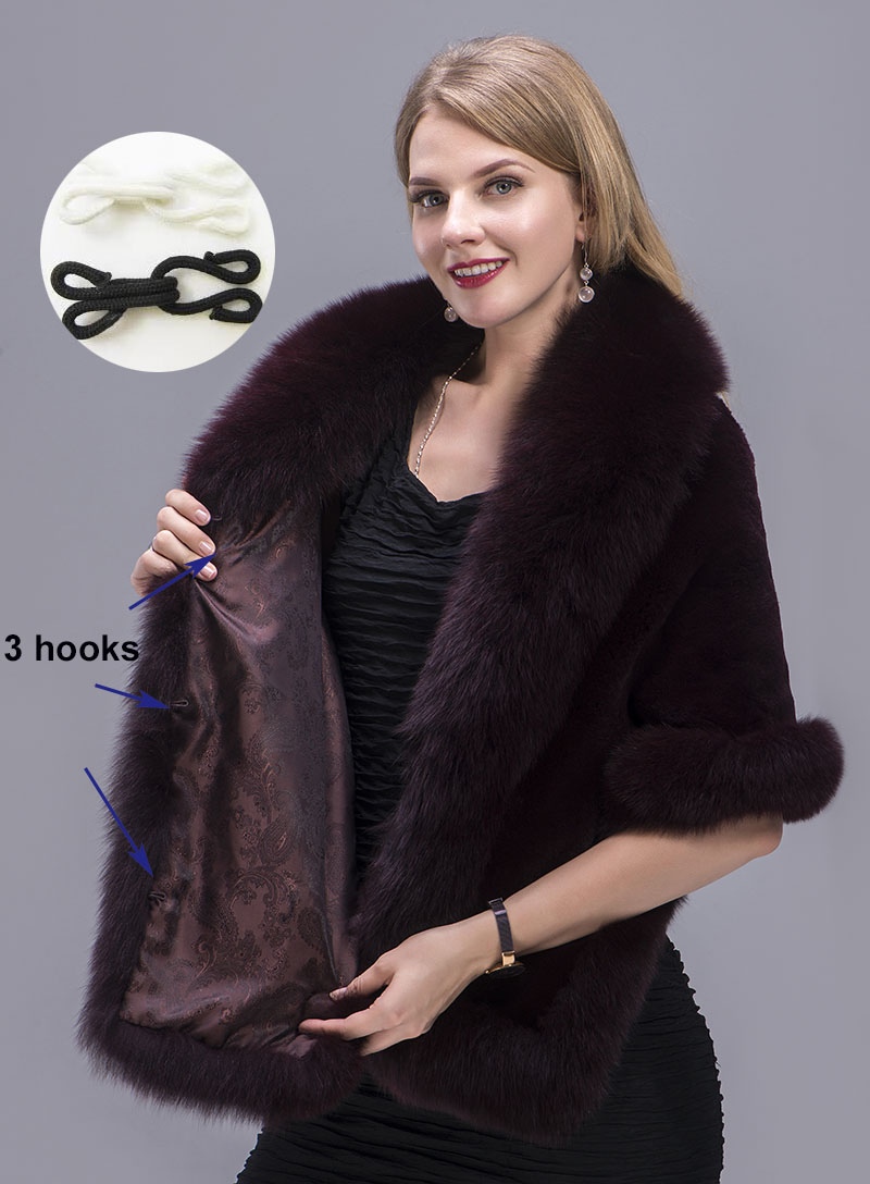 real fur shawl details