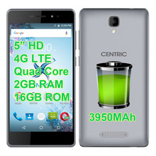 "SANTIN Promotion CENTRIC P1 CM3321 3950mAh 4G LTE 5"" HD Screen Quad Core 64-bit 2GB RAM 16GB Rom Phone HT37 HT3 HT16 X5 MAX PRO(China)"