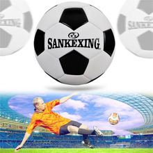 SANKEXING Black White Standard PU Soccer Ball Size 5 futbol Adults Training Equipment Voetbal Bal Slip-Resistant Match football(China)