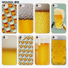 MOUGOL Fun Beer A Glass of Beer Cool Summer Skin design transparent clear Cases Cover for Apple iPhone 6 6s Plus 7 7Plus SE 5 5s(China)