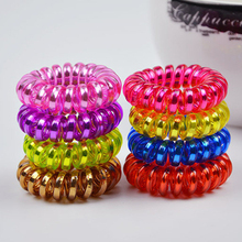 10 pieces/lot Size 35mm Mix Color Scruchies Headdress Hair Band Telephone Line Wire Elastic Hair Rope Hairband