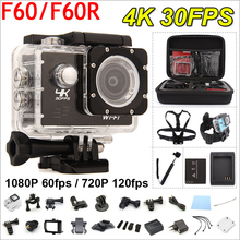 RICH Gopro hero 4 style F60/F60R Action camera 4K/30fps Remote 16MP WiFi 170D Helmet Cam 30M waterproof Sports camera