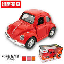 Brand New Classic model Volkswagen Vw Classic Beetle Bug Vintage 1/32 Scale Diecast Metal Pull Back Car Model Toy For Kids142