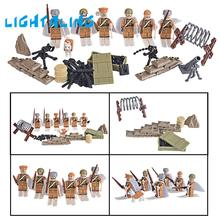 Lightaling Military Soldier Army WW2 Soviet Russian National Army Building Blocks Children Model Toy Gift(China)