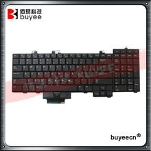 95% New Black US Layout D113R For Dell M6400 M6500 NSK-DE201 0D113R US Keyboard with Backlit Replacement