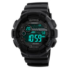 SKMEI Digital Sport Watch Men Countdown Chronograph Double Time Switch LED Electronic Wrist Watches Military Wristwatch 1243