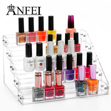 5 Tiers Cosmetic Makeup Nail Polish Varnish Display Stand Rack Holder Booking Jewelry Acrylic Packaging Organizer Storage Box