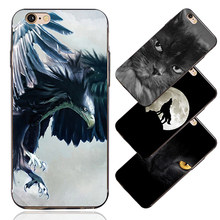 Cool 3D Print Cat Eagle Case Cover for iPhone 4/4S 5/5S 5C 6/6S 6 Plus 7 7Plus
