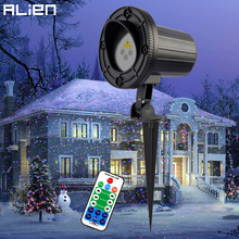 ALIEN RGB Moving Static Dots Star Christmas Laser Light Projector Outdoor Garden Holiday Xmas Tree Decor Effect Show Lights(China)