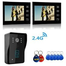Freeship by  Video Door Phone Bell Wireless Intercom with RFID keyfobs Access Control Wireless Video Intercom Phone