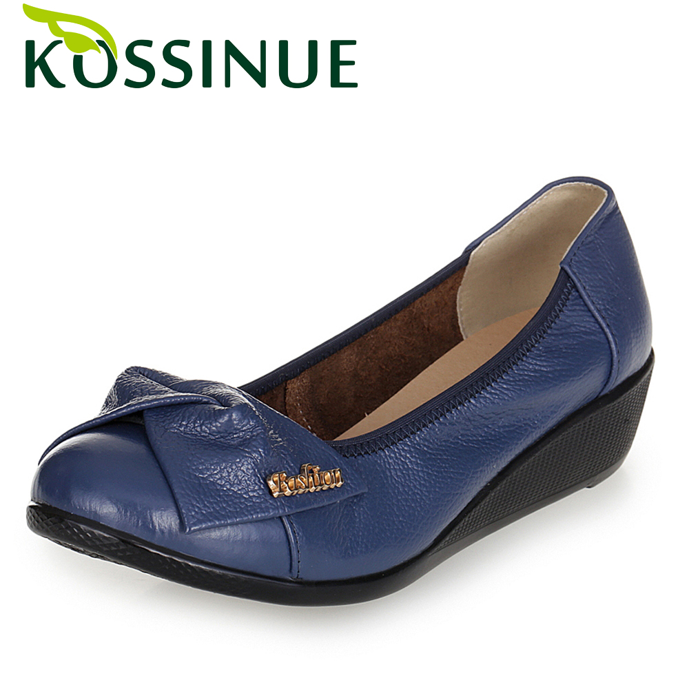 KOSSINUE 2017 New Genuine Leather Women Shoes Slip On Loafers Soft Leisure Flats Female Driving Casual Comfortable Footwear <br><br>Aliexpress