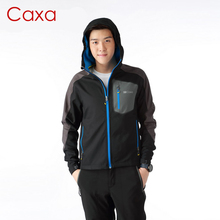New Style Outdoor Men's Soft Shell Waterproof Clothing Sports Jacket Even The Cap Warm Windproof Zipper Ourdoor Jacket 3 Color