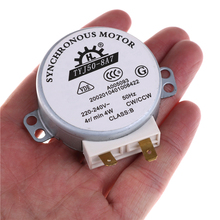 1pcs AC 220V-240V 50Hz CW/CCW Microwave Turntable Turn Table Synchronous Motor TYJ50-8A7 D Shaft 4 RPM VEJ20 P20