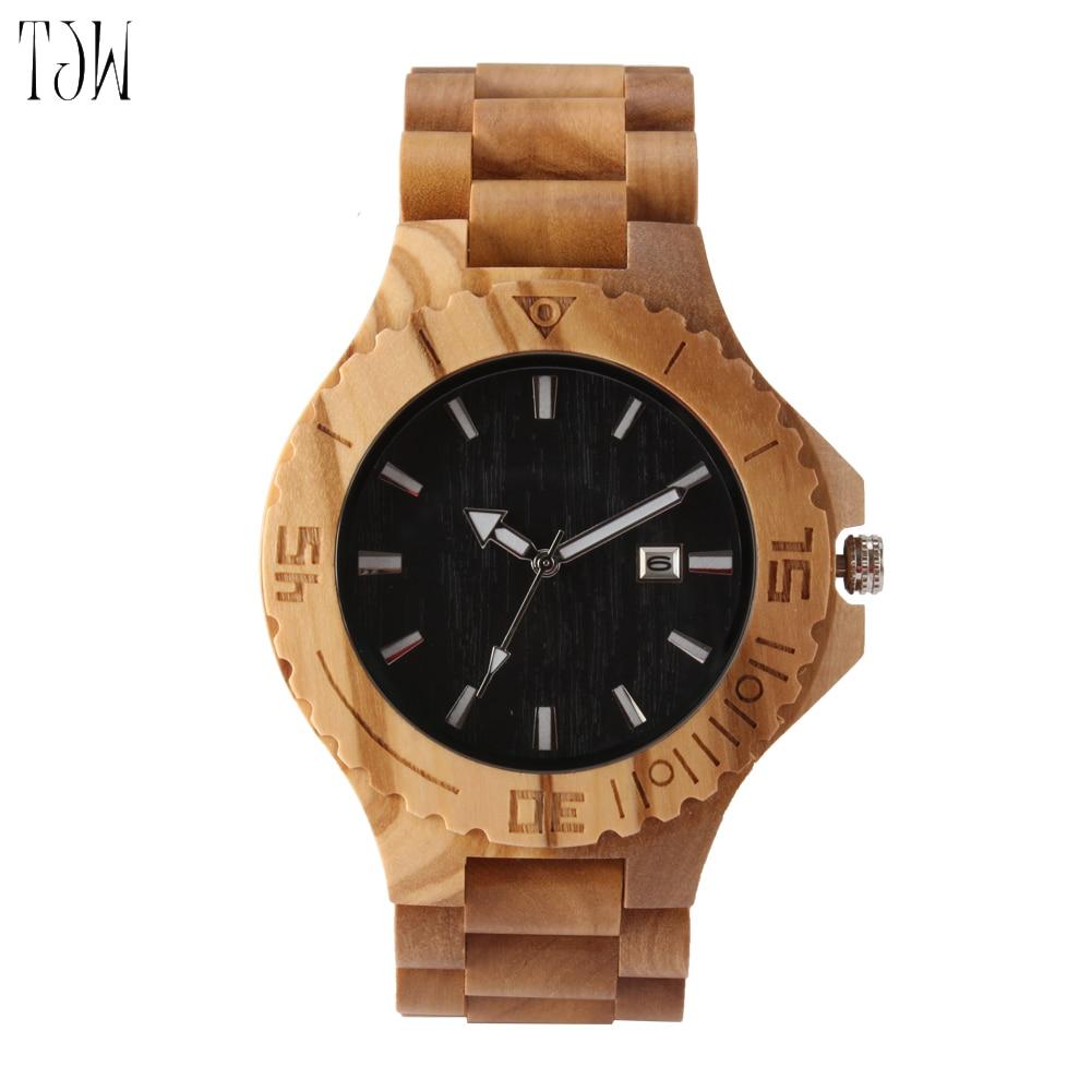 2018-TJW  men watch brands Carbonized bamboo garden shell watches watch <br>