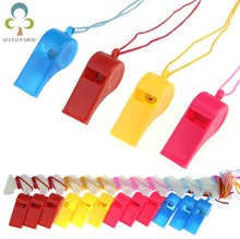 12pcs/lot Colored plastic whistle referee  whistle professional soccer referee whistle basketball referee whistle dolphin Y2
