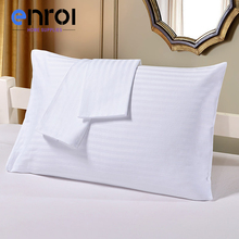 Solid Color Satin Stripe Pillowcases 2PCS US Queen Cotton China Pillow Shams Suppliers Cheap For Home/Hospital/Hotel