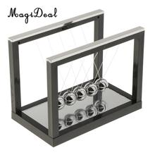 3 Colors S/M/L Newton's Cradle Newton Billiard Balance Ball Pendulum Toy with Mirror Furniture Articles for Home Office Decor