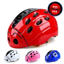 Ultralight cycling helmet with light 21 air vents In-mold led bicycle helmets children casco mtb mountain road kids bike helmets(China)