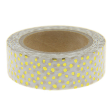 White Dots Foil Washi Tape Scrapbooking Tools Cute Decorative Cinta Adhesiva Decorativa Japanese Stationery Washi Tapes Mask