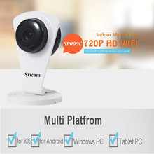 Sricam 720P HD P2P Security IP Camera Wifi Camera Mini Baby Monitor Onvif IR Home Surveillance TF Slot 128G For Android iOS PC