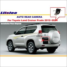 Liislee Rear View Camera Camera For Toyota Land Cruiser Prado 2012~2014 License Plate Light OEM / Night Vision / Backup Parking(China)