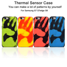 Matte PC Thermal Sensor Case for Samsung Galaxy S7 Edge S8 Temperature heat Change Induction Soft Cases Fundas Protective Cover