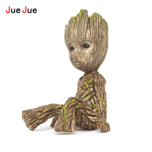JueJue 2017 New Hote Cute Guardians of the Galaxy 2 Groot Sitting Statue Figure Collectible Model Toy 9 Types Children Gifts