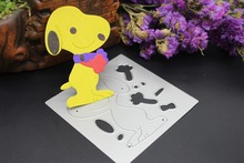 Dog Jigsaw Puzzle DIY cutting dies metal stencils for Scrapbook Card album steel cut dies embossing template HY562