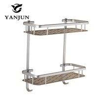 Yanjun cuadrado de aluminio Estantes del cuarto de baño cuarteto Pared  Soporte gancho de cinturón con a7e7bc03e290