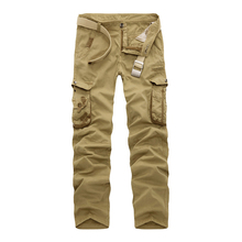 Tactical Pants Fashion Designer Camouflage Cargo Pants Men Army Green Slim Fit Multi Pockets Cotton Men Trousers Army Work Pant(China)