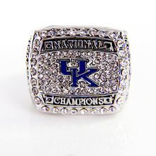 Collection Edition Gift Rings Christmas 2012 SEC UK Wildcats 2012 NCAA National Champions Basketball Championship Ring Alloy Rin