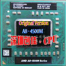 Original AMD A8 4500M laptop CPU Quad Core A8-4500M 1.9G Socket FS1  A8-Series Notebook