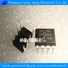 10PCS/LOT 16K I2C bus serial EEPROM 24LC16 24LC16B 24LC16B-I/P