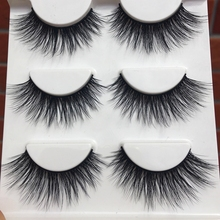 D-15 Winged Soft Cotton 3D False Eyelashes Stitch Cross Messy Natural Long Eye Lashes Fashion Makeup False Eyelashes(China)