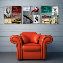 3 Piece Abstract Wall Art Marilyn Monroe Audrey Hepburn poster Oil Painting print On Canvas Wall Art For Home Decoration picture