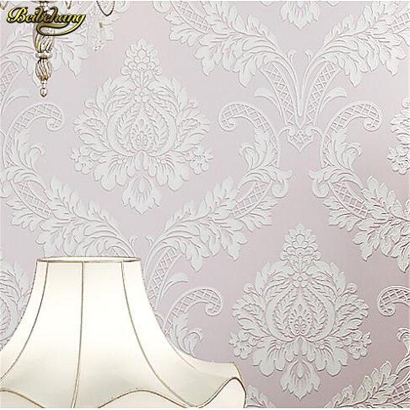 beibehang wallpaper flocking 3d embossed textured feature wall paper roll fine livingroom decor 3D papel de parede para sala<br>