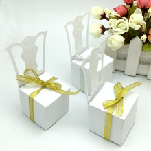 50Pieces Chair Shape Place Card Holder Wedding Candy Box Gift Favour Boxes Wedding Bonbonniere Event Party Supplies