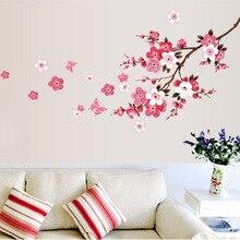 120x50 см Cherry Blossom цветок Стены Наклейки Водонепроницаемый гостиная спальня наклейки на Стены 739 Декоры Фрески плакат