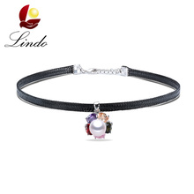 High Luster 4A Real Natural Pearl Chokers For Women Vintage 925 Sterling Silver Short Necklace Sexy Fashion Chocker Jewelry(China)