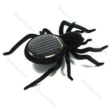 New Solar Spider Children Toy Power 8 Legs Black Crazy(China)
