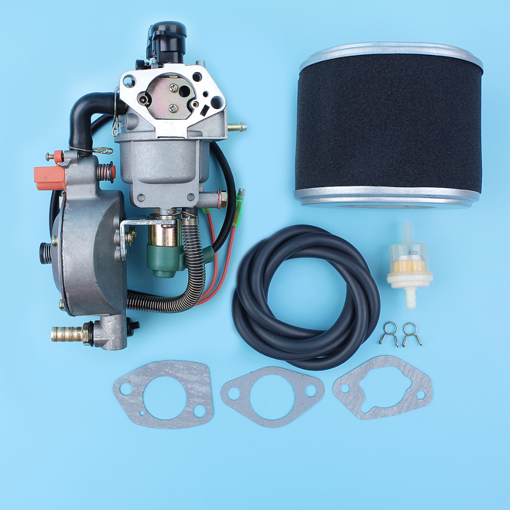uxcell New Dual Fuel Carburetor LPG NG Conversion Kit for Gasoline Generator 4.5-5.5KW GX390 188F w Manual Choke