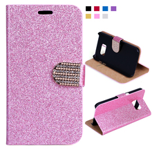 Buy Rhinestone PU Leather Case Samsung Galaxy S6 S7 Glitter Bling Crystal Diamond Wallet Star Bling Phone Cover for $2.06 in AliExpress store
