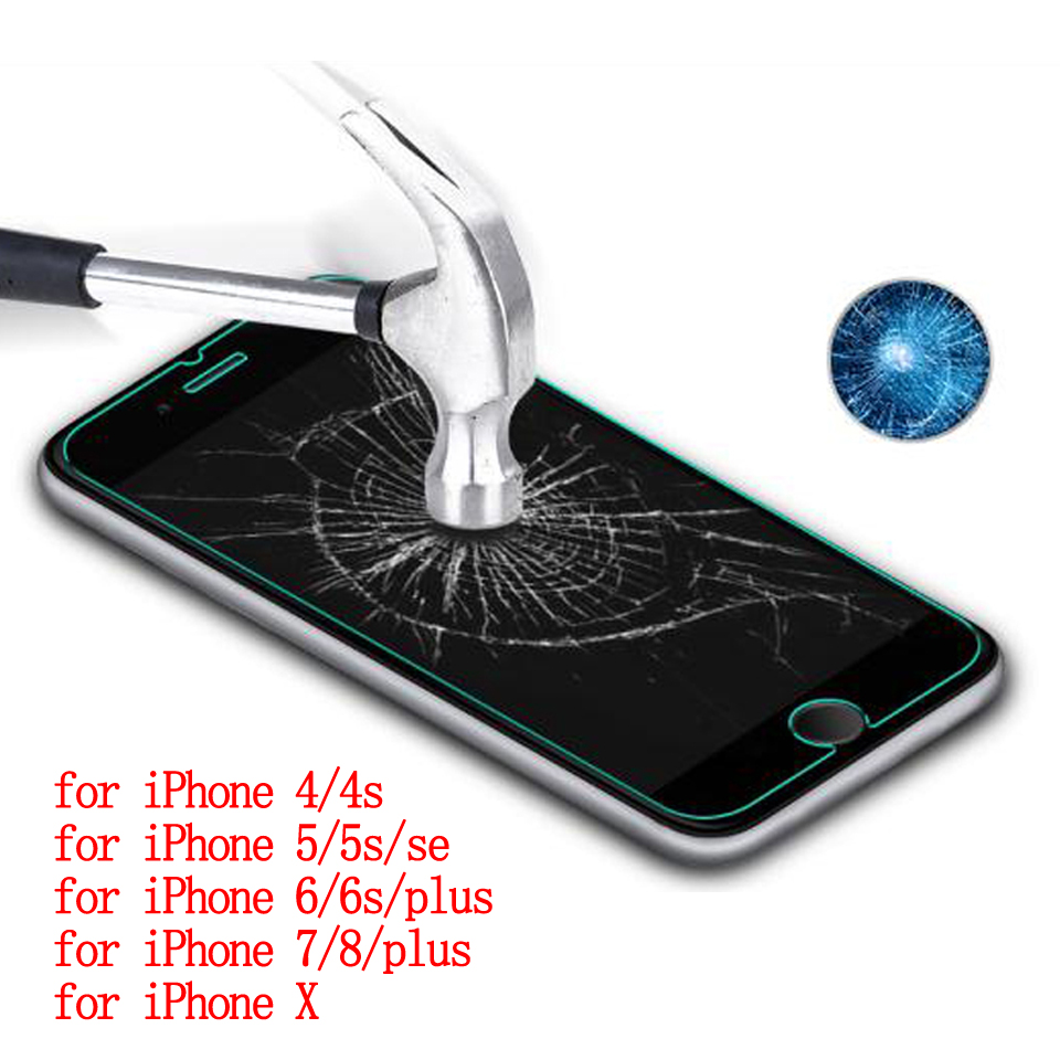 Wellzly tempered glass iphone 5s glass iphone 6 tempered glass 2.5d HD 9H iPhone 4 4s 5 5s se 6s 7 8xplus